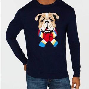 Club Room L English Bulldog Crewneck Sweater $65